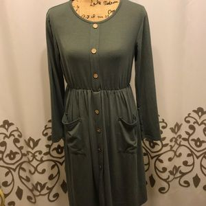 Olive green comfy dress